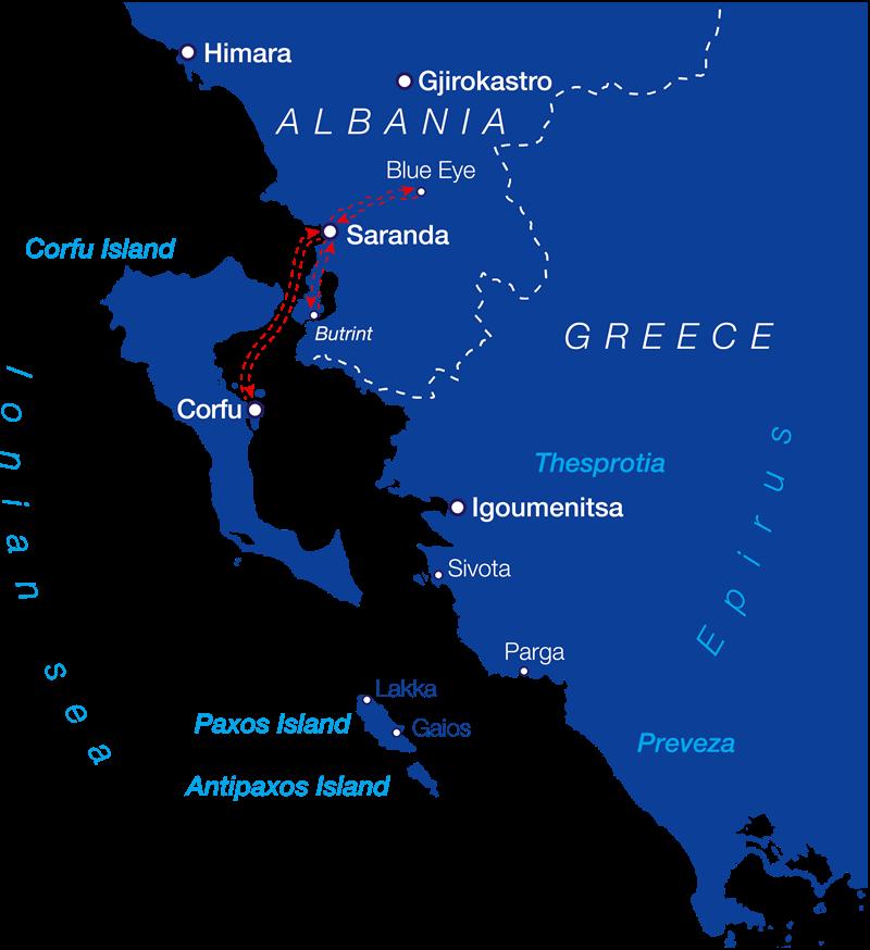 Ionian Seaways Saranda City Butrint National Park And