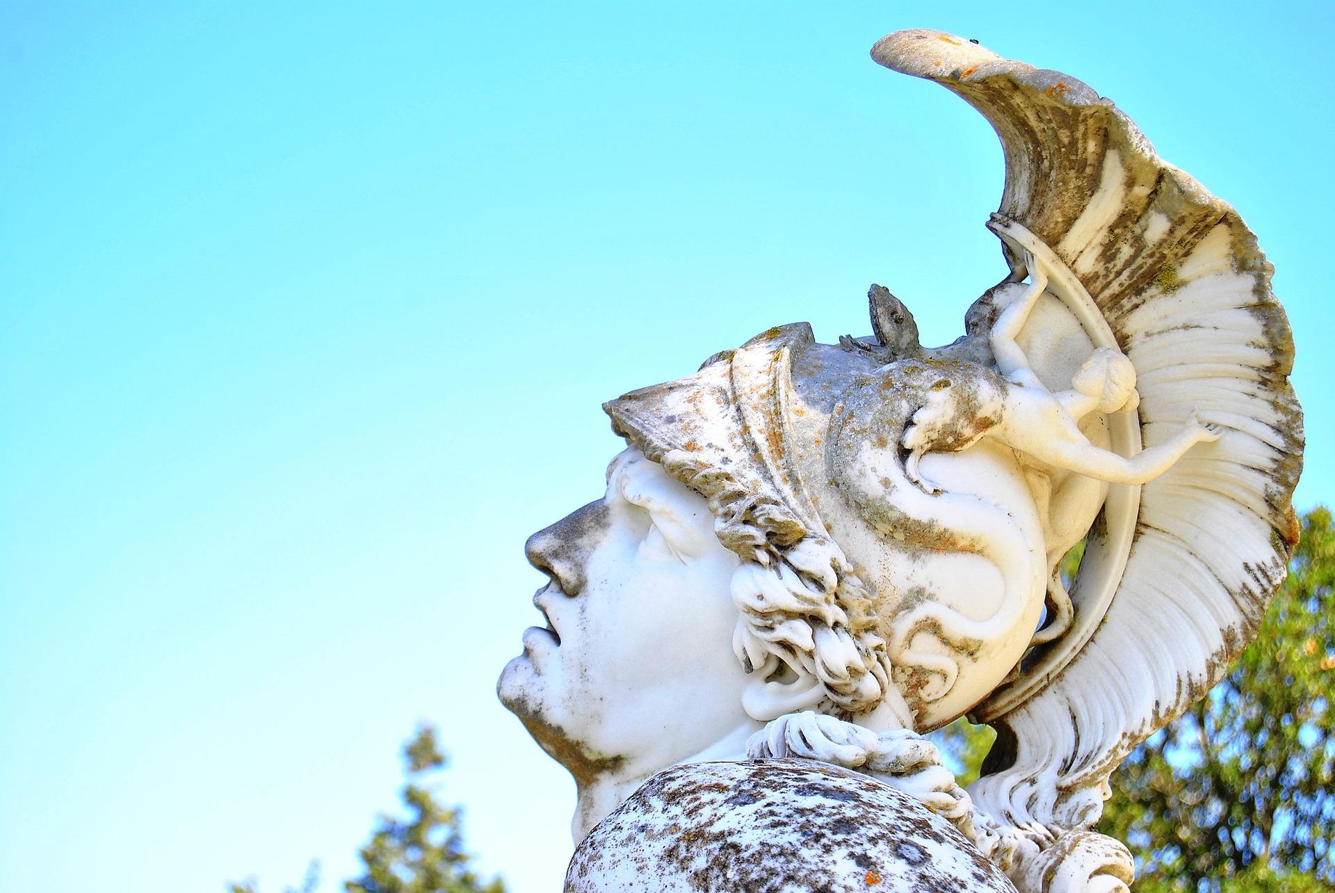Achilles Statue Achelleion Palace Corfu