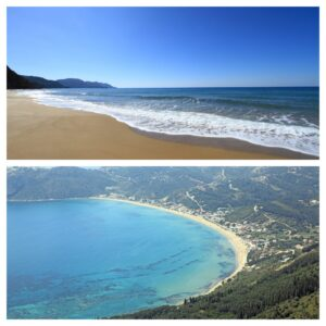 Corfu Beaches Collage
